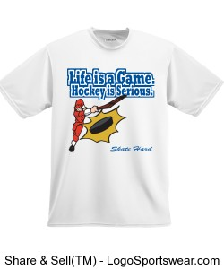 Life is a Game Hockey is Serious T-Shirt Design Zoom